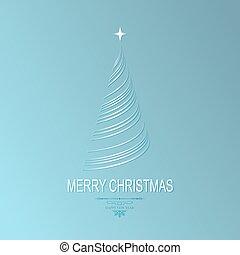 藍色, 設計, 樹, 圣誕節光