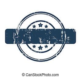 藍色, 郵票, 星