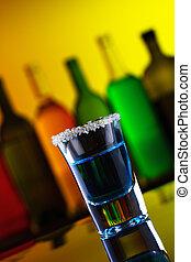 藍色, 酒吧, 酒精, 飲料, 糖, 射擊