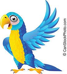 藍色, 金剛鸚鵡, 卡通