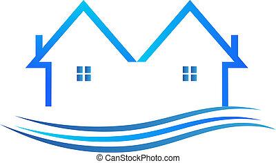 藍色, 顏色, 矢量, 標識語, 房子