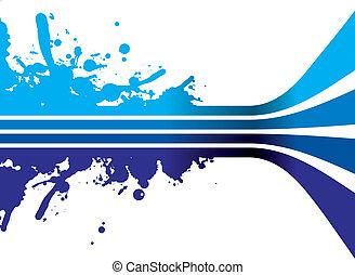 藍色, 飛濺