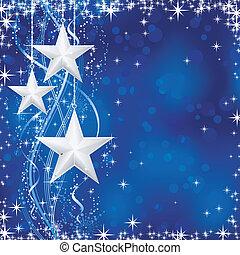 藍色, 點, 星, occasions., 冬天, transparencies., 光, 喜慶, 線, 雪, /, 聖誕節, 波狀, 薄片, 不, 背景, 你