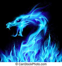 藍色, 龍火