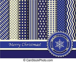 藍色, scrapbooking, 聖誕節, 奶油