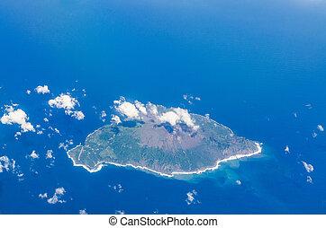 藍色, toshima, 空中, 島, 海洋, 日本, kagoshima, 看法