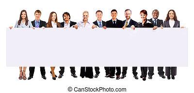 藏品, 人們, 旗幟, 事務, 廣告, 被隔离, 組, 白色