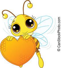 藏品, 心, 甜, 蜜蜂, 漂亮