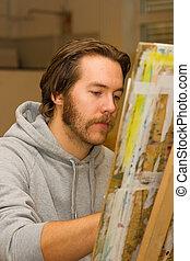 藝術家, 圖畫, 年輕