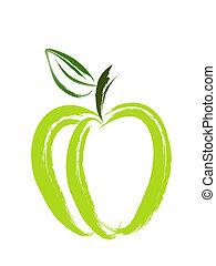 藝術, 蘋果, 刷子