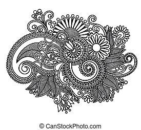 藝術, 裝飾華麗, 設計, 花, 線