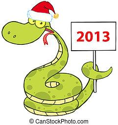 蛇, 帽子, 聖誕老人