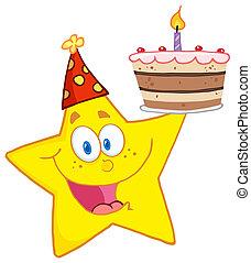 蛋糕, 生日, 星, 藏品