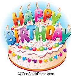 蛋糕, 生日