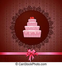 蛋糕, 葡萄酒, celebratory, 背景