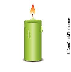 蜡燭燃燒, 插圖