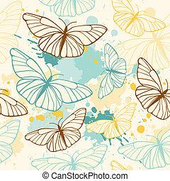 蝴蝶, 圖案, seamless