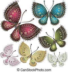 蝴蝶, 幻想, 集合, 葡萄酒