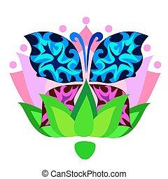 蝴蝶, 插圖, 矢量