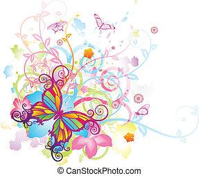 蝴蝶, 植物, 摘要, 背景