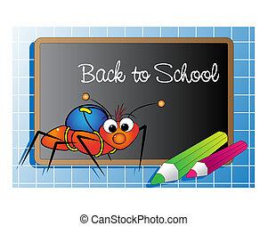 螞蟻, 學校, 背