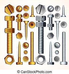 螺栓, 螺絲, 鉚釘