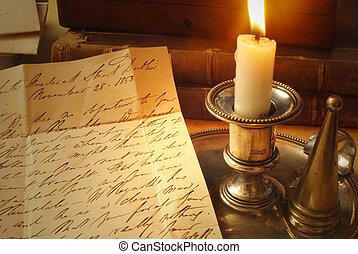 蠟燭, 老信件