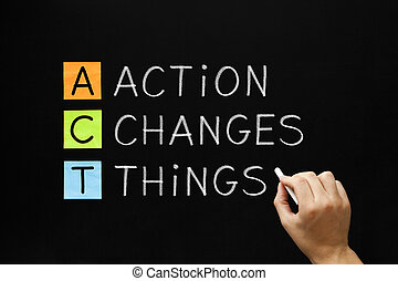 行動, 事情, 變化, 縮寫