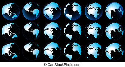 行星地球, 地圖