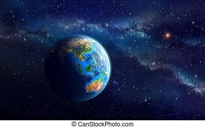 行星地球, 深, 空間