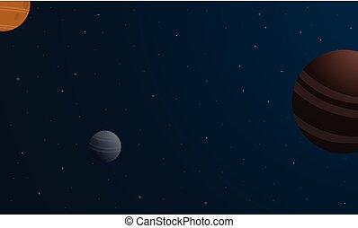 行星, 插圖, 美麗, 空間