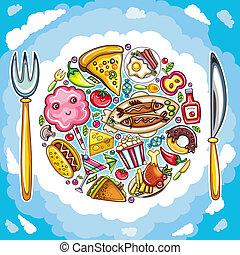 行星, 食物, 鮮艷, 漂亮