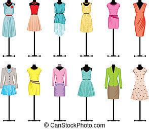 衣服, 人體模型, 婦女` s