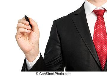 衣服, 被隔离, 鋼筆, 藏品, 商人, 領帶, 紅色