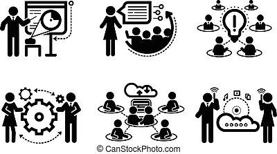 表達, 概念, 配合, 商務圖標