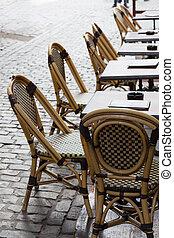 表, 被修補, 廣場, 咖啡館, 布魯塞爾, 空
