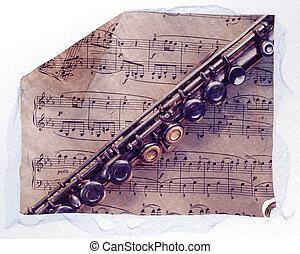 表, 長笛, 音樂