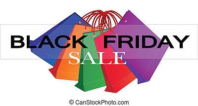 袋子, 購物, 鮮艷, 星期五, 紙, 黑色, 促進