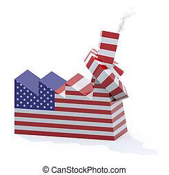 被編織, 美國人, 煙囪, 工廠