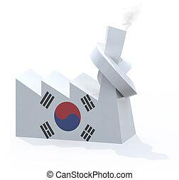 被編織, 韓國語, 煙囪, 工廠