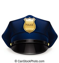 被銳化的 蓋帽, 警察, 帽章