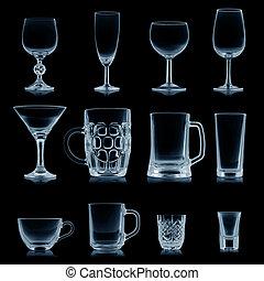 被隔离, 彙整, 黑色, 打掃, 玻璃器皿, 空