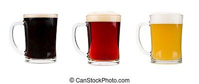 被隔离, 現實, 啤酒, 背景, 白色, 眼鏡
