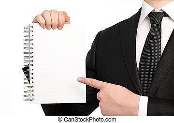 被隔离, 筆記本紙, 藏品, 商人, 部分, 或者