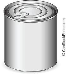 被隔离, 錫, 白色, 罐頭