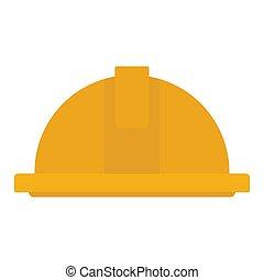 被隔离, 黃色, 鋼盔