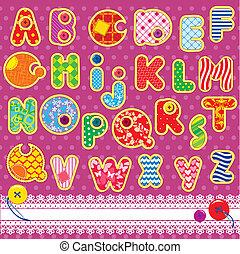 補綴品, 字母表, abc