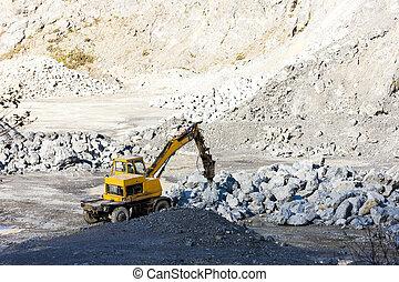 裝貨, 挖掘機, 采石場, 岩石