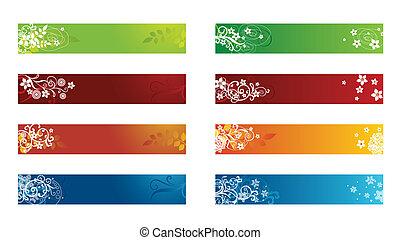 裝飾, 季節性, 邊框, 植物