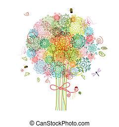裝飾, 摘要, 樹